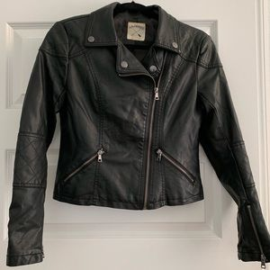 PAC Sun vegan leather biker jacket size S